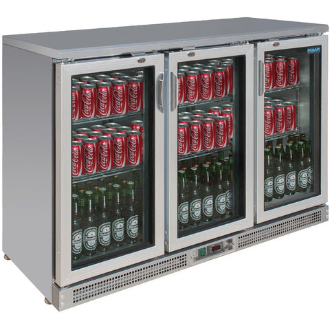 Polar Bar Display Cooler Hinged Doors 273 Bottles