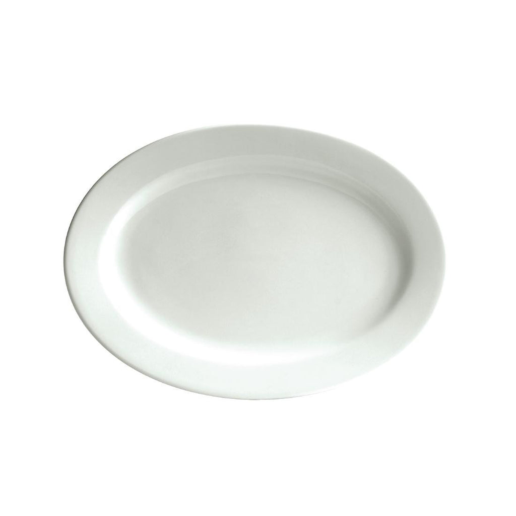 Australian Fine China Bistro Oval Plates 305mm (Pack of 18)