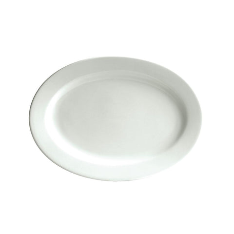 Australian Fine China Bistro Oval Plates 355mm (Pack of 12)