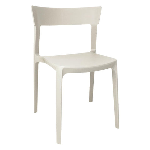 Bolero Beige Polypropylene Bistro Side Chairs (Pack of 4) (Pack of 4)