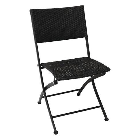 Bolero PE Wicker Folding Chair Set (Pack of 2) (Pack of 2)