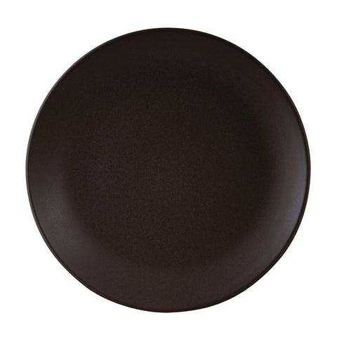 Zuma Coupe Plate 260mm Charcoal (Pack of 6)