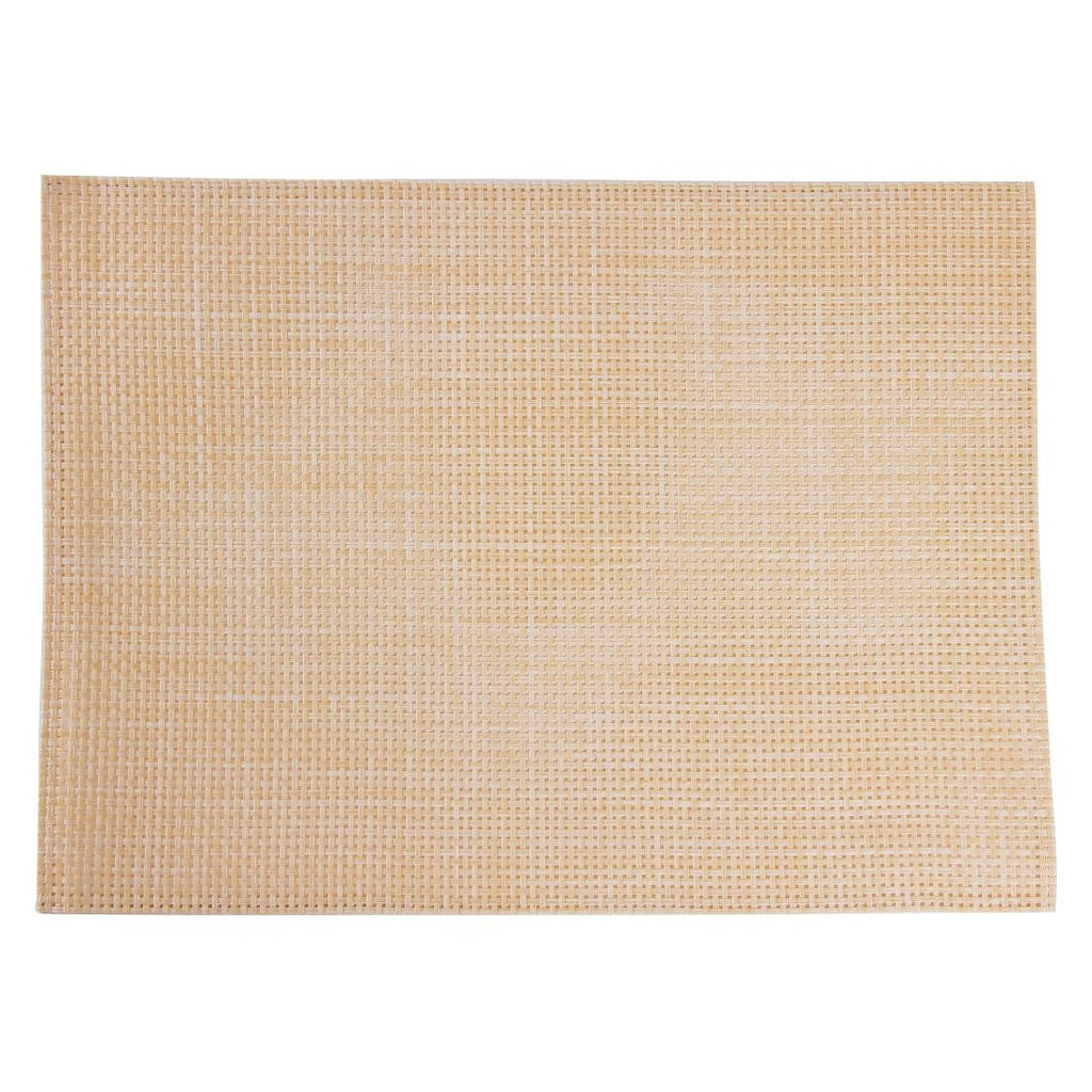 APS PVC Beige Placemat (Pack of 6)