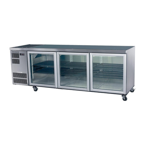 Skope Counterline 3 Glass Door Counter Fridge CL600