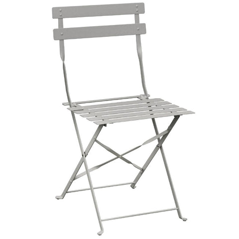 Bolero Grey Pavement Style Steel Folding Chairs (Pack of 2) (Pack of 2)