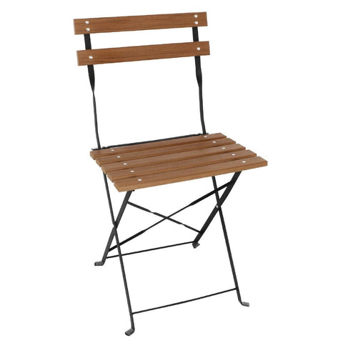 Bolero Faux Wood Bistro Folding Chairs (Pack of 2) (Pack of 2)