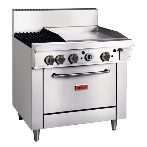 Thor 36in Freestanding Oven Range With Griddle and 2 Burners Natural Gas