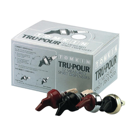 Tru-Pour Black Spirit Dispenser 30ml (Pack of 12)