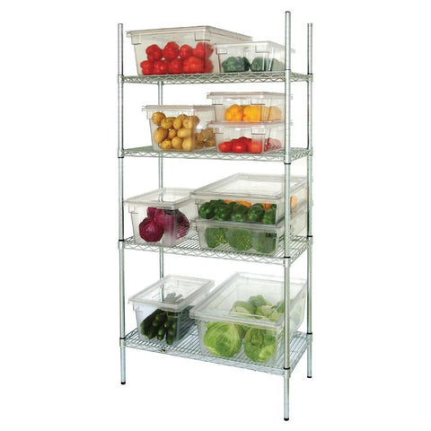 Vogue 4 Tier Wire Shelving Kit 1830x460mm