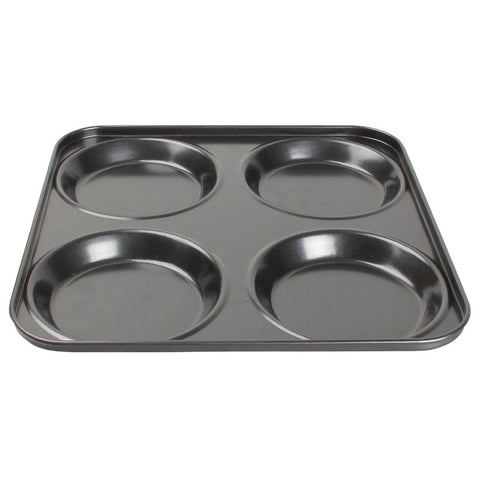 Vogue Carbon Steel Non-Stick Yorkshire Pudding Tray 4 Cup
