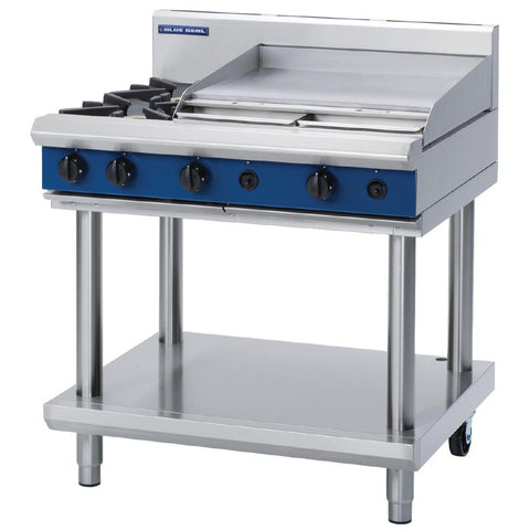 Blue Seal by Moffat Freestanding 2 Burner Propane Gas Cooktop and Griddle Plate G516B-LS