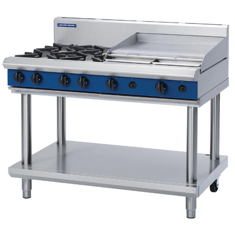 Blue Seal by Moffat Freestanding 4 Burner Natural Gas Cooktop with Griddle Plate G518B-LS