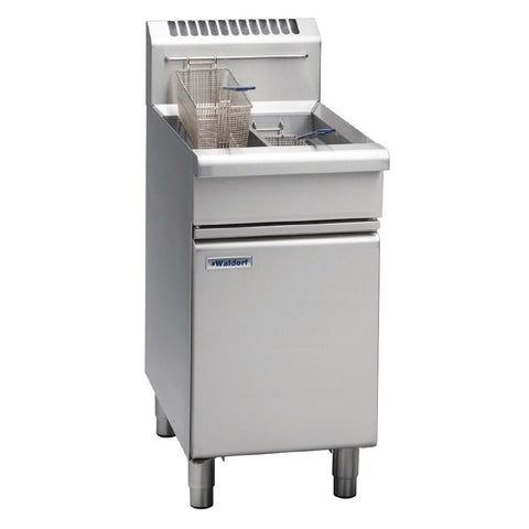 Waldorf by Moffat Freestanding Natural Gas Twin Pan 2 x 13Ltr Deep Fryer FN8226G