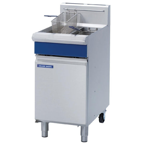 Blue Seal by Moffat Freestanding Natural Gas Twin Pan 2 x 13Ltr Deep Fryer