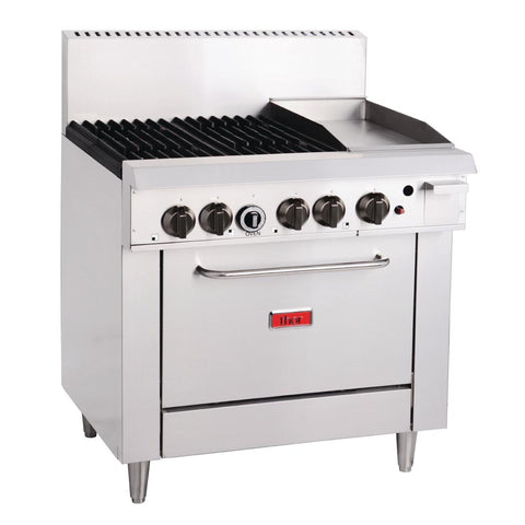 Thor 4 Burner Natural Gas Oven Range with Griddle Plate