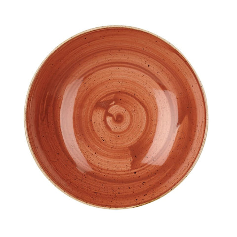 Churchill Stonecast Round Coupe Bowl Spiced Orange 200mm (Pack of 12)