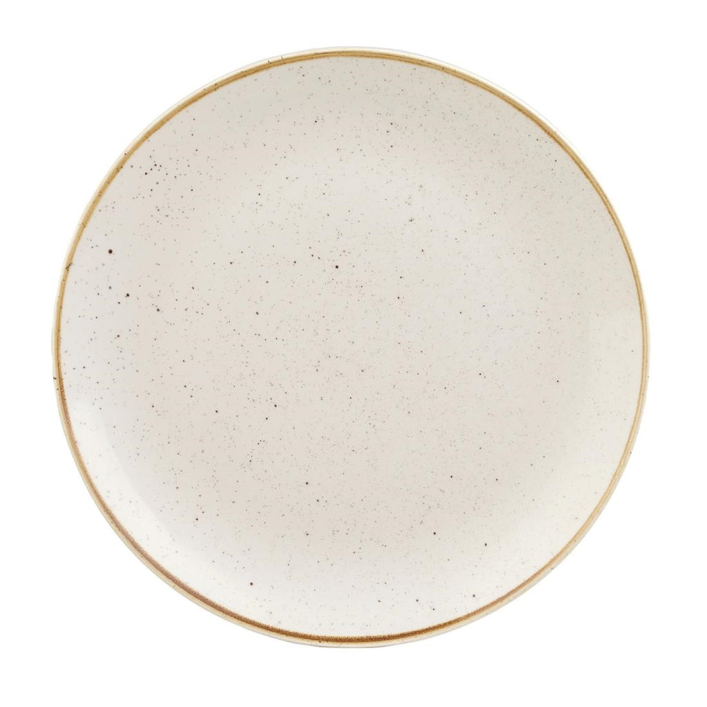 Churchill Stonecast Round Coupe Plate Barley White 295mm (Pack of 12)