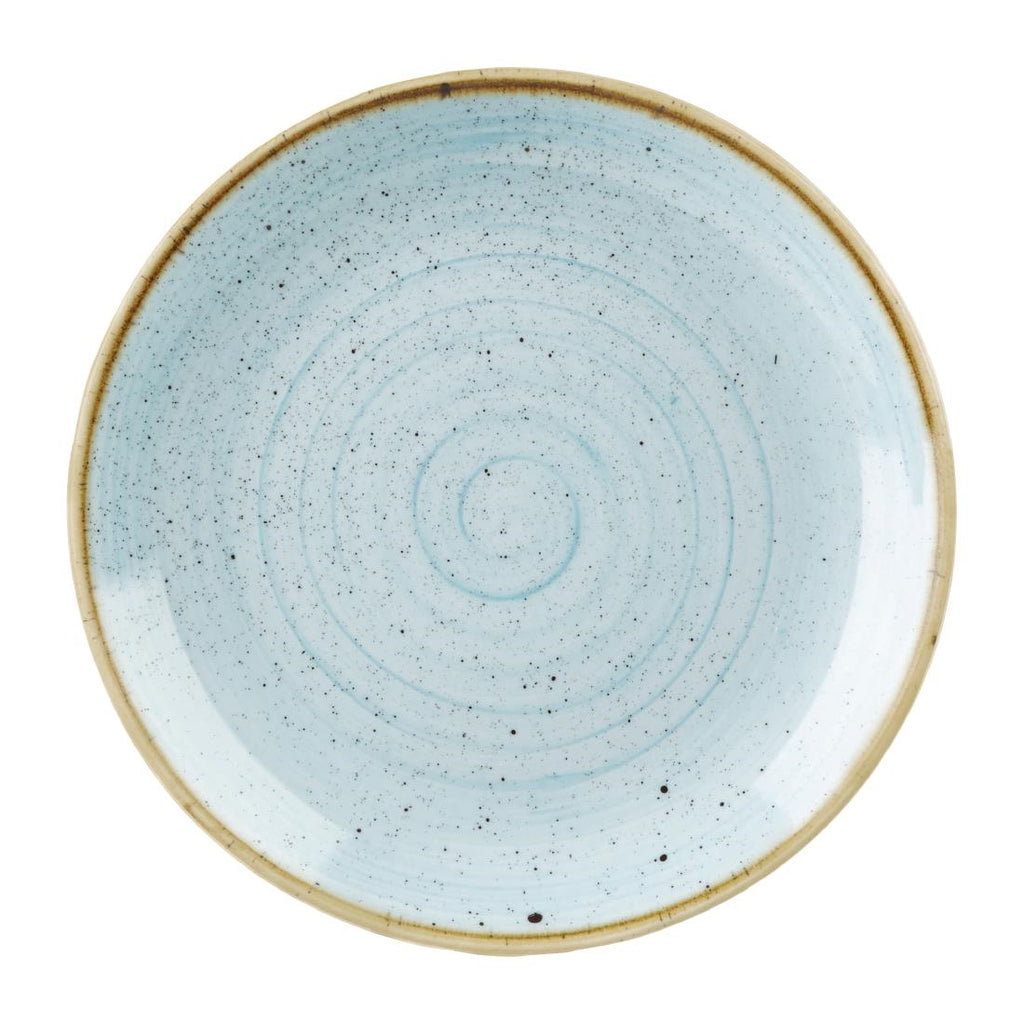 Churchill Stonecast Round Coupe Plate Duck Egg Blue 295mm (Pack of 12)