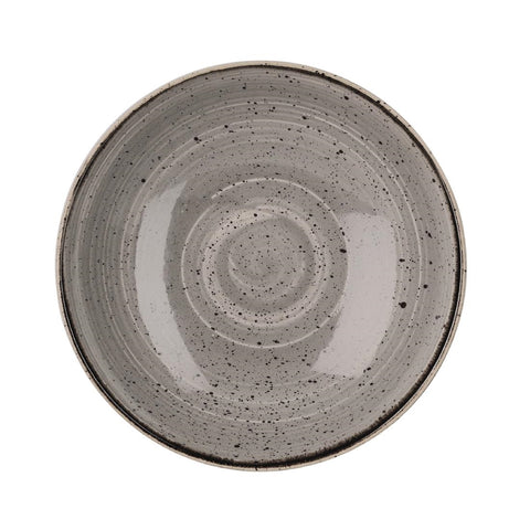 Churchill Stonecast Round Coupe Bowl Peppercorn Grey 220mm (Pack of 12)