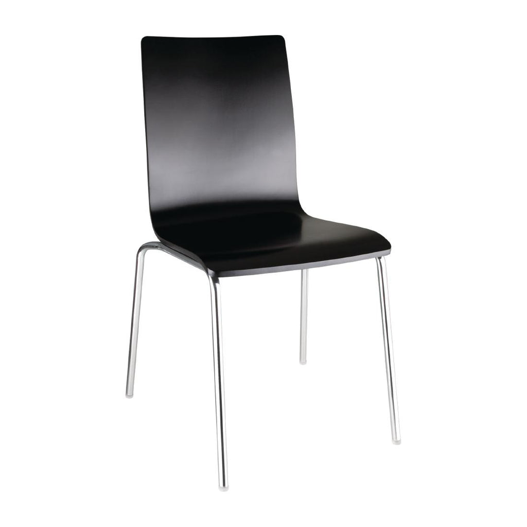 Bolero Black Square Back Sidechair (Pack of 4)