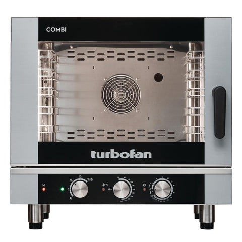 Turbofan Full Size 5 Tray Manual Electric Combi Oven EC40M5