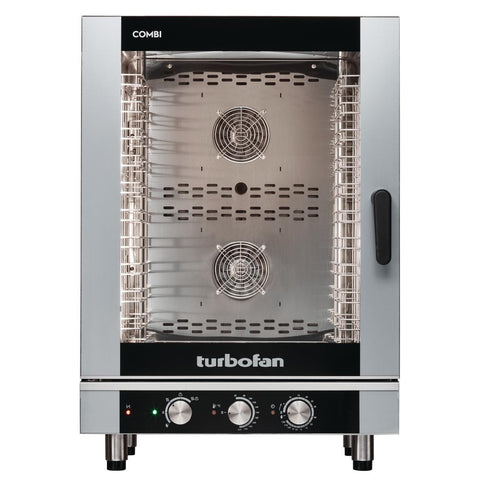 Turbofan Full Size 10 Tray Manual Electric Combi Oven EC40M10