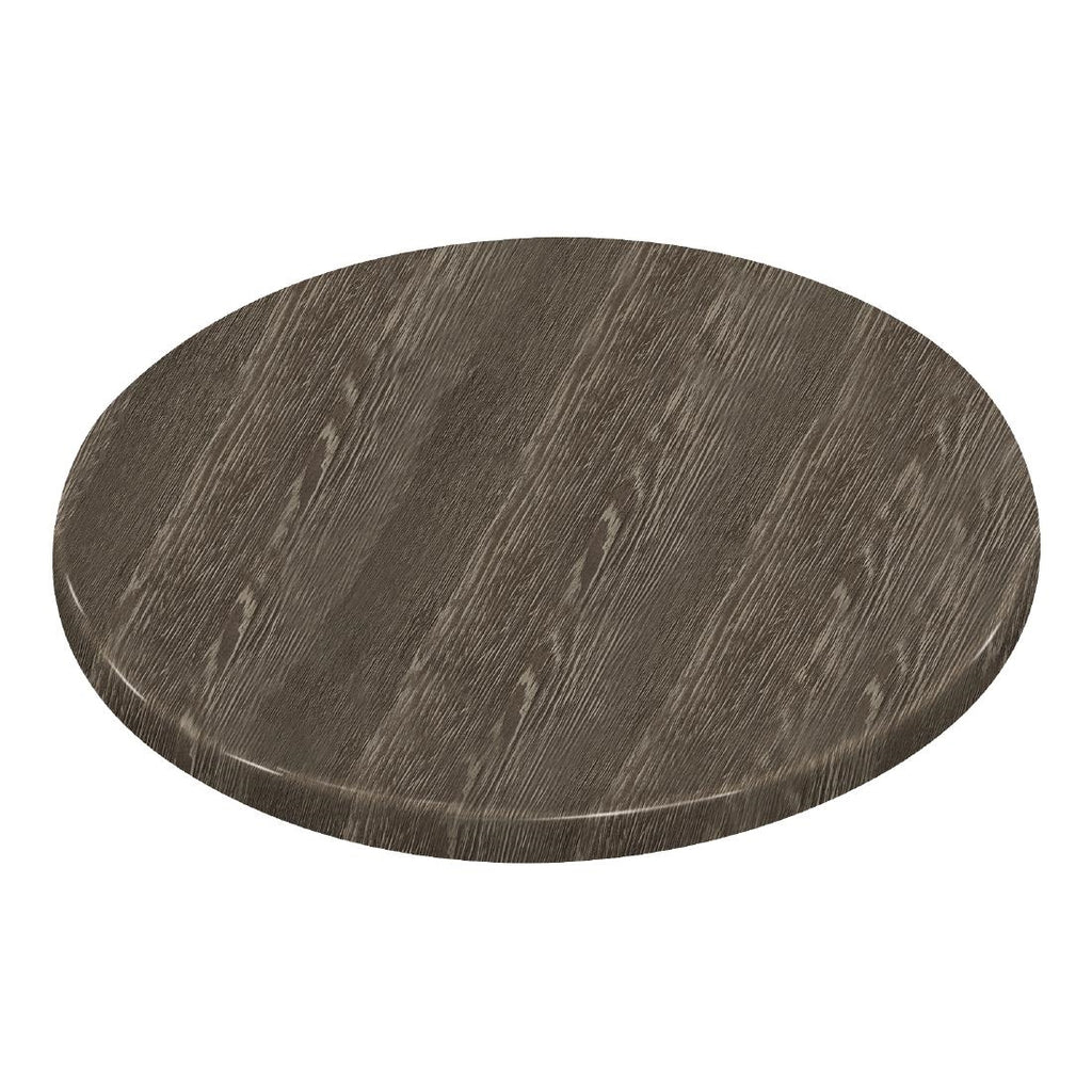 Bolero Pre-drilled Round Table Top Wenge Grain 600mm