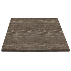 Bolero Pre-drilled Square Table Top Wenge Grain 700mm