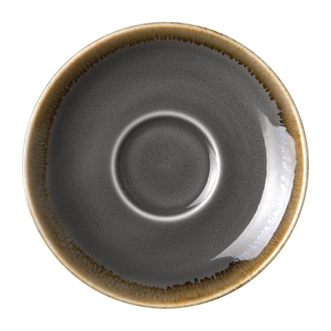 Olympia Kiln Espresso Saucer Smoke  (Pack of 6)