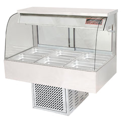 Woodson 4 Module Curved Cold Food Display