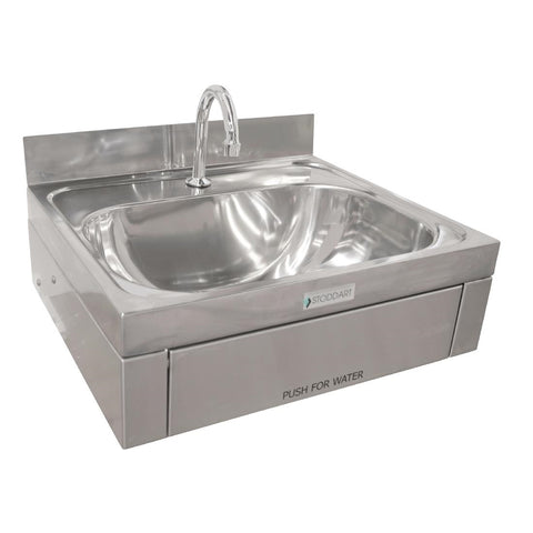 Stoddart Plumbing 11 Litre Wash Basin Knee Operated With Splashback