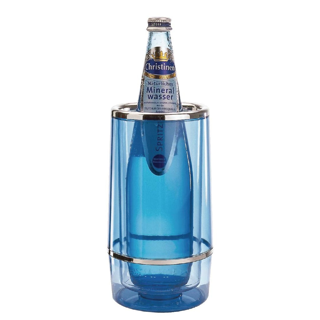 Aps Blue Acrylic Wine And Champagne Cooler