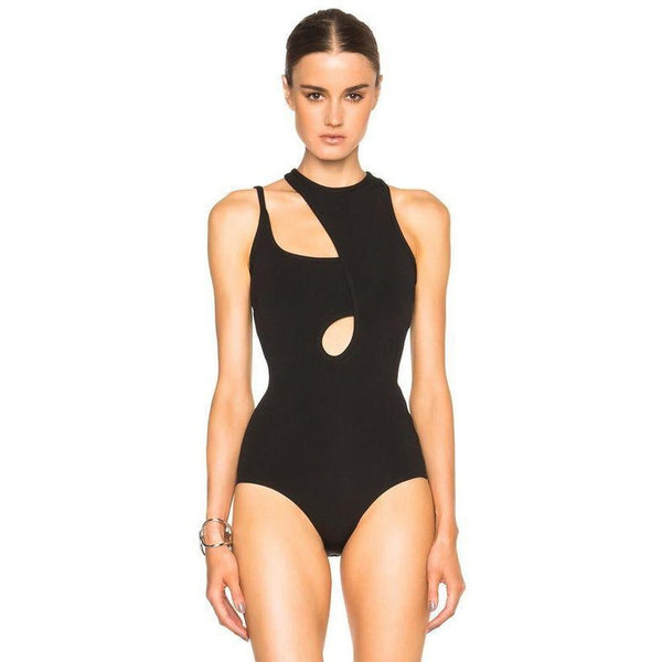 Black Cutout Bandage  Bodysuit