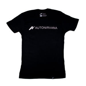 black AutoNirvana Banner car enthusiast t-shirt front image