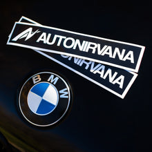 AutoNirvana Box Stickers on a BMW