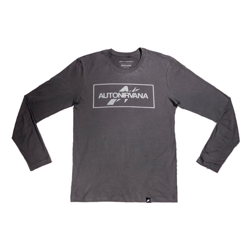 AutoNirvana apparel front long-sleeve t-shirt grey