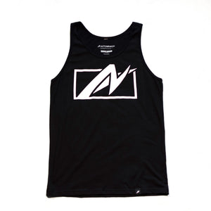 Front of AutoNirvana Uncaged Tank Top in Black
