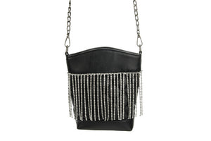 Black Rhinestone Crossbody