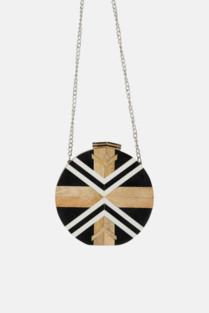 WOOD CROSSBODY BAG. Sold out