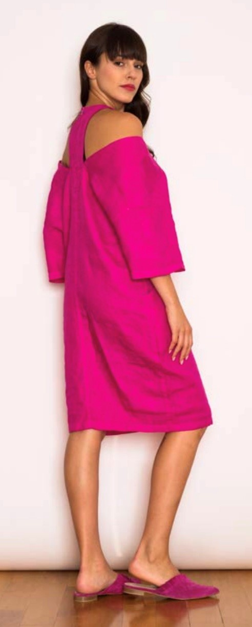 SIMI  CUT OUT  LINEN DRESS