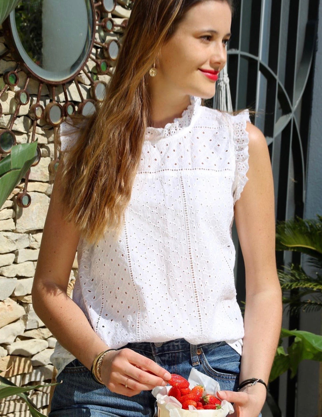 The Emma Eyelet top
