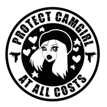 CAM GIRL SECURITY STICKER