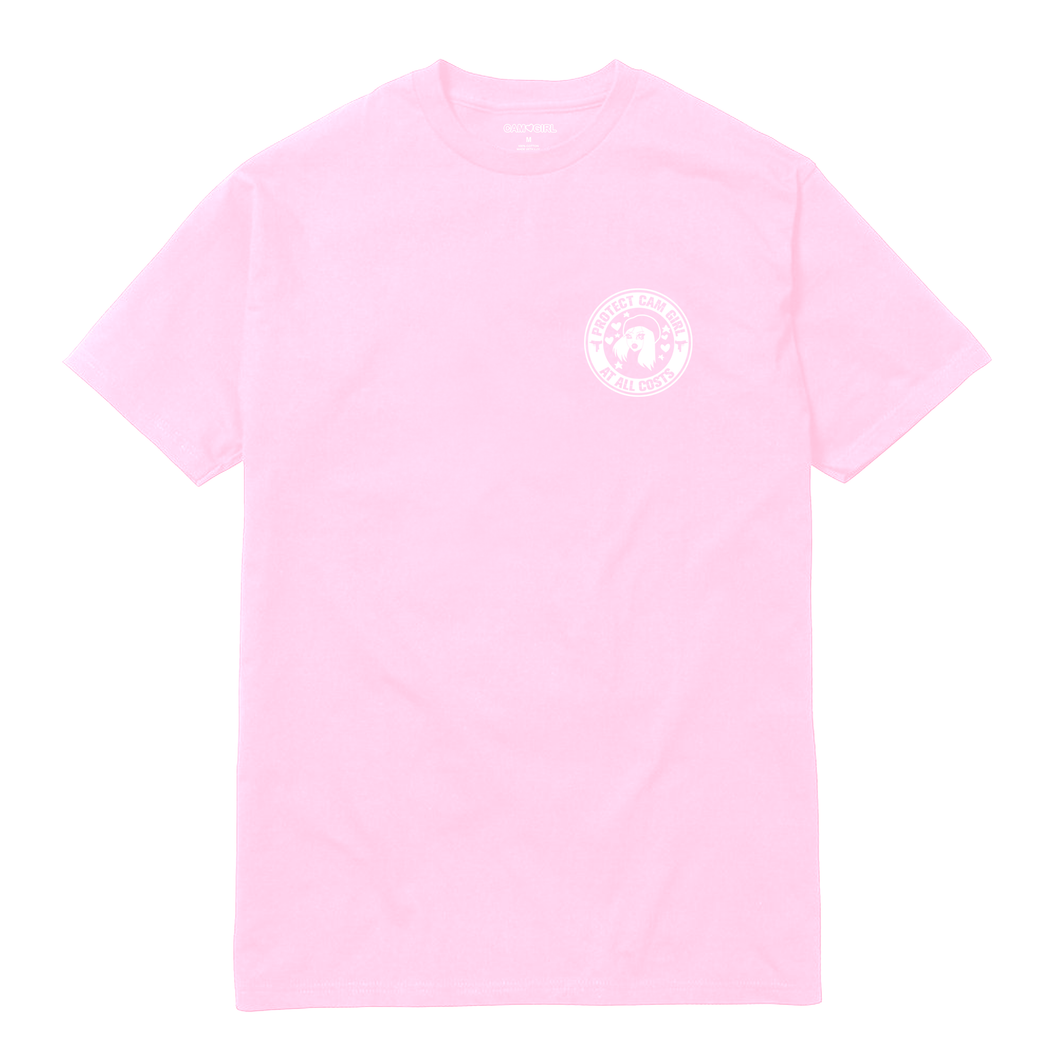 PINK CAM GIRL SECURITY SHIRT
