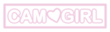 CAM GIRL LOGO TRANSPARENT STICKER