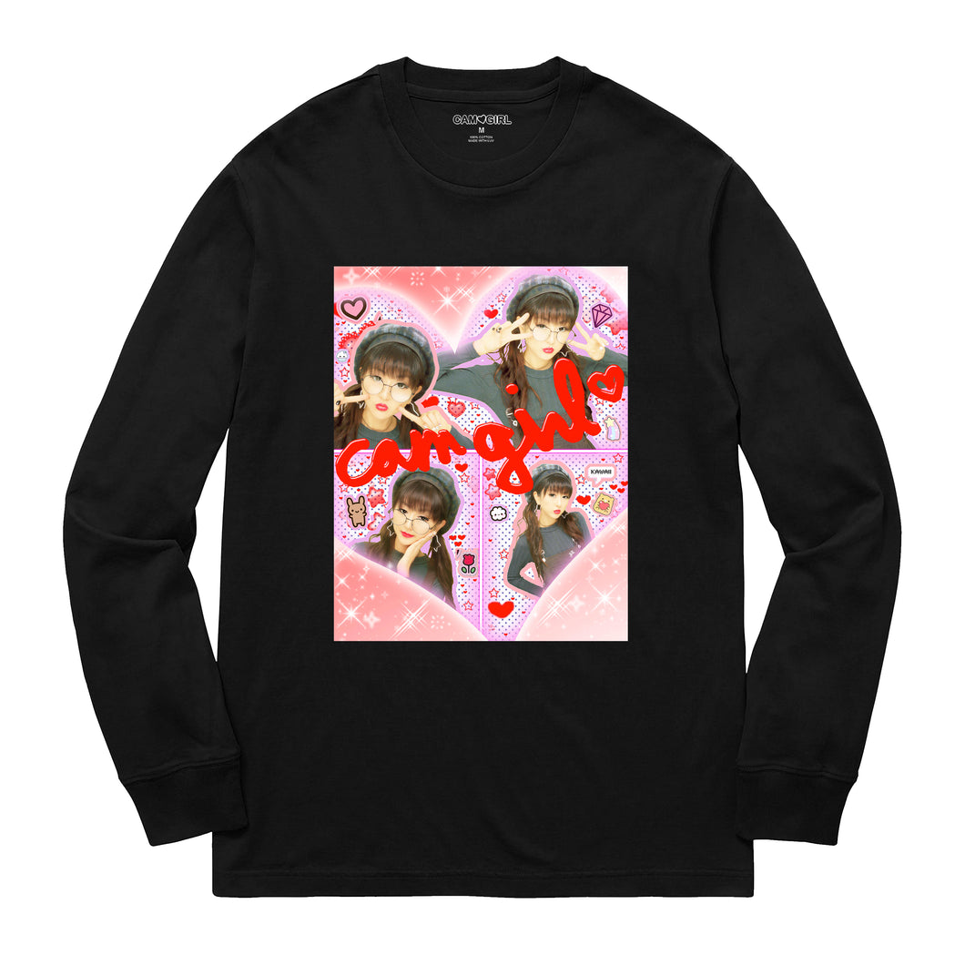 BLACK CAM GIRL LONG SLEEVE