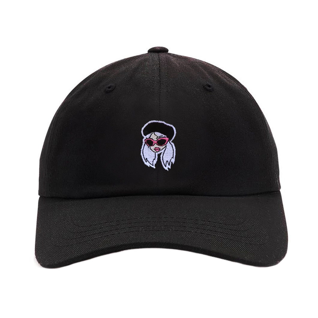 BLACK CAM GIRL HAT