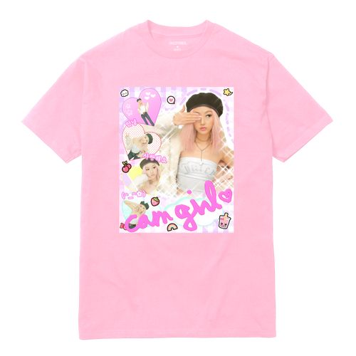 PINK CAM GIRL SHIRT