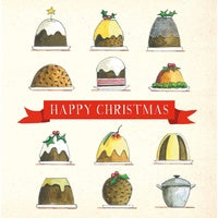 Card Sq Christmas Puddings