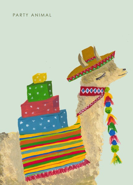 Card Party Llama