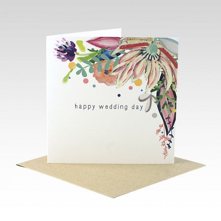 Card Floral Wedding Day